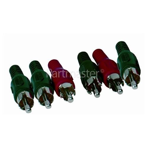 Universal 3 Phono Plugs To 3 Phono Plugs