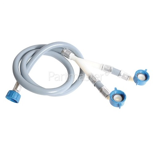 Universal 1.2m Inlet Hose - Single Inlet For Double Valve