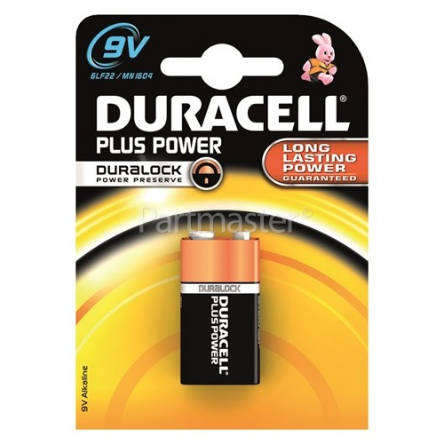 Duracell Plus 9V Alkaline Battery (Pack Of 10)