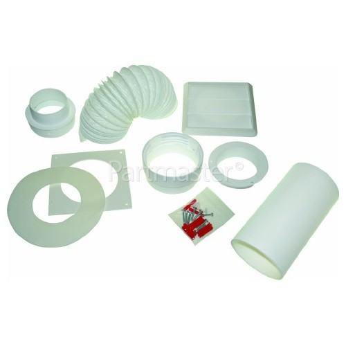 Baumatic Round Wall Vent Kit & Reducer From 100mm To 80mm