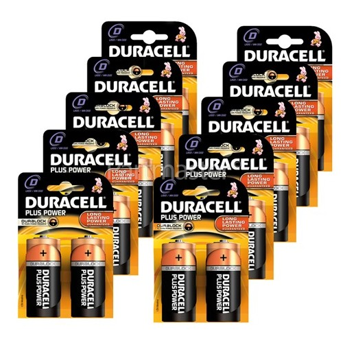 Duracell Plus D Alkaline Batteries