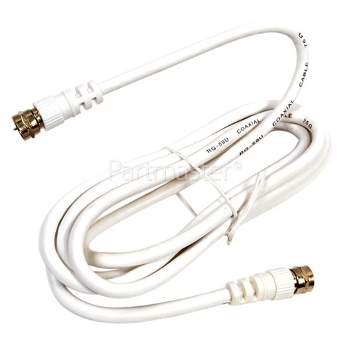 Universal F Satellite Lead Plug To Plug