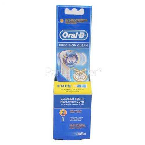 Oral B EB20-2 Precision Clean Toothbrush Heads (Pack Of 2)