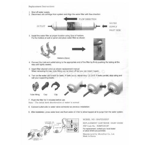 Samsung External Fridge Water Filter Cartridge Hafex/Exp