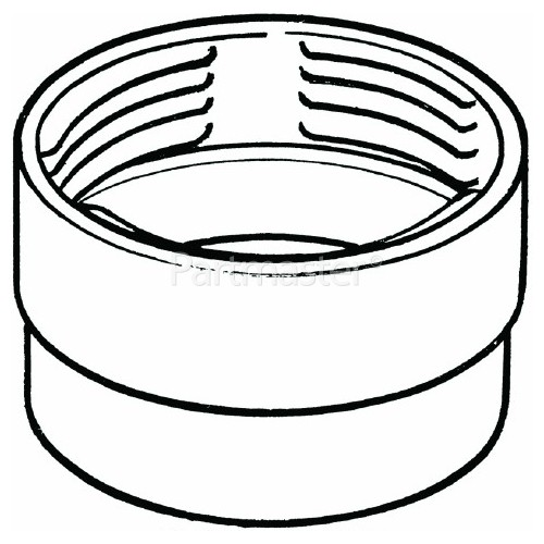 """Female Threaded Hose Ducting Connector - 3.9""""/100mm"""