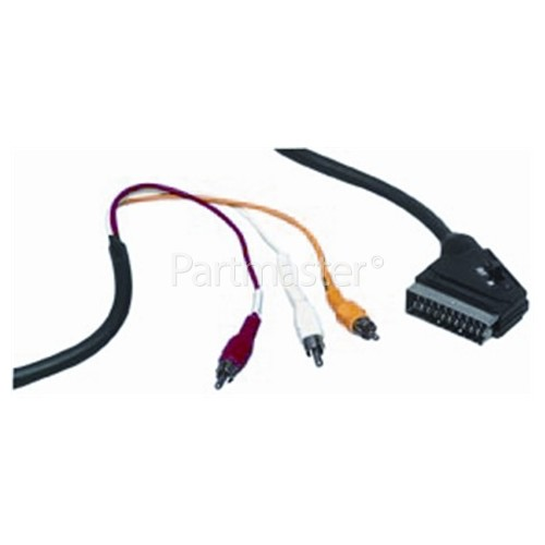 Universal Scart Lead To 3 Phono Leads