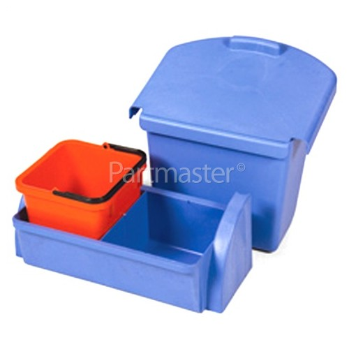 Numatic AK1 - 30-litre Lidded Waste Bin & Blue Tray & Red 6-Litre Pail (To Fit All Versamop Units)