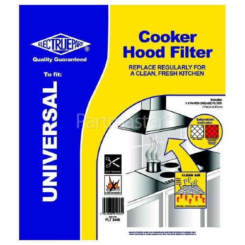 Candy Universal Cooker Hood Grease Filter With Saturation Indicator