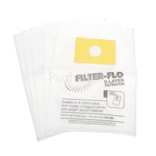 Filter-Flo Upright/Cylinder Vacuum Adaptor Bag (Pack Of 5)
