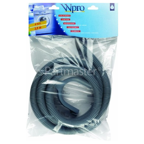 Wpro 2.5mtr. Water Outlet Hose 19mm End With Right Angle End 19mm
