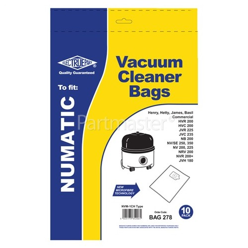 NVM-1CH Filter-Flo Synthetic Dust Bags (Pack Of 10) - BAG278