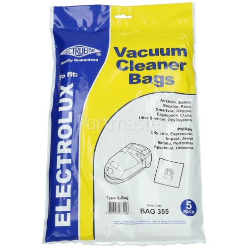 Elin S-Bag Classic Filter-Flo Synthetic Dust Bags (Pack Of 5) - BAG355