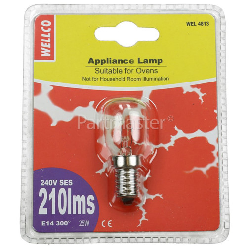 Wellco Universal 25W SES (E14) 300º Appliance Lamp