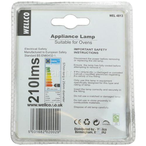 Wellco Universal 25W Oven Lamp SES/E14 240V
