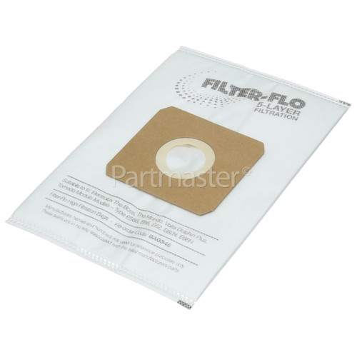 ES66 Filter-Flo Synthetic Dust Bags (Pack Of 5) - BAG348