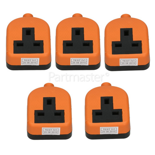 Duraplug Bulk 13A Orange Single Trailing Socket Rubberised (Box Of 5)