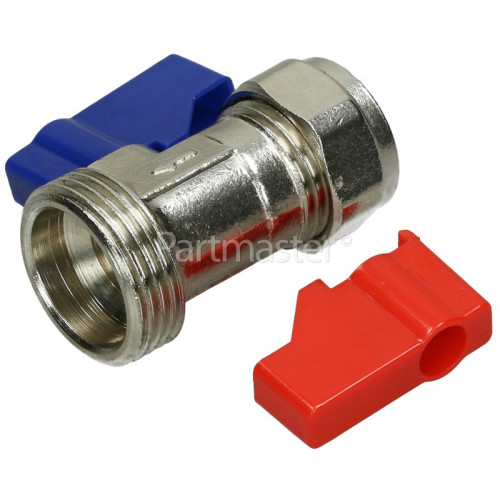 Hose Inline Taps Straight (1 Pair) For Plumbing In Your Washing Machine Or Dishwasher