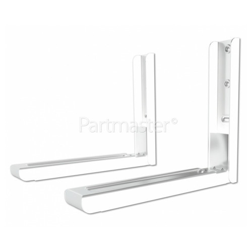 AVF Microwave Oven Wall Brackets (1 Pair) White