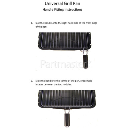 Arctic AM5512DL Universal Grill Pan Assembly - 385x300mm