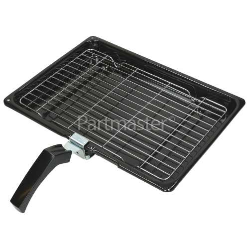 Hotpoint Universal Grill Pan Complete - 380 X 280 X 40mm