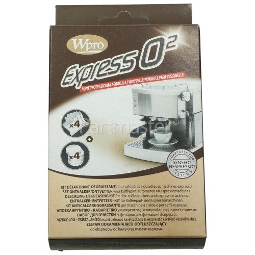 Wpro Descaler & Degreaser (cleaning) Kit: Coffee / Espresso Machines