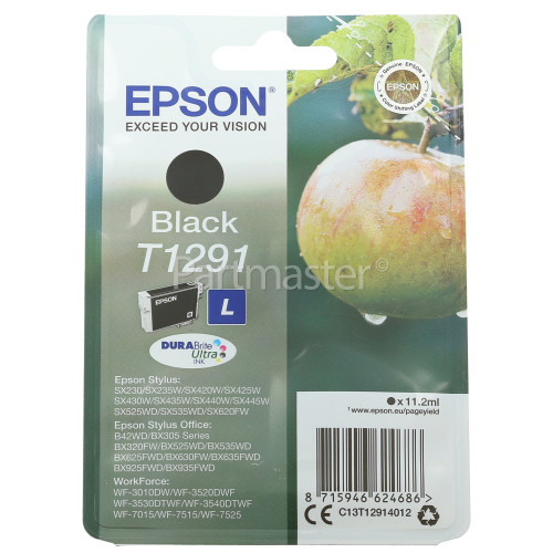 Epson Genuine T1291 Black Ink Cartridge