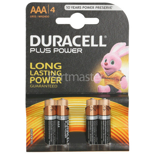 Duracell AAA Batteries (PACK4) Single Pack