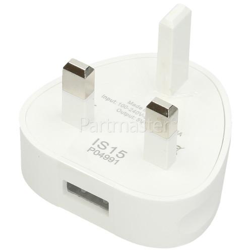 USB 1A Plug Charger - UK Plug