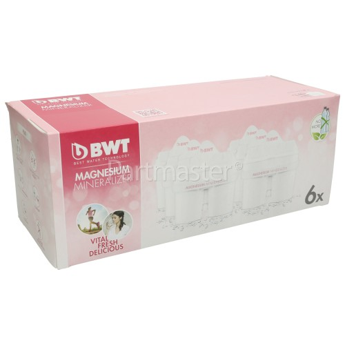 BWT Longlife MG2+ Water Jug Filter Cartridge (Pack Of 6)