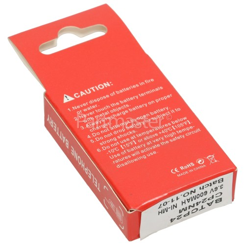 Ascom CTS900 Compatible CP24NM Cordless Phone Battery