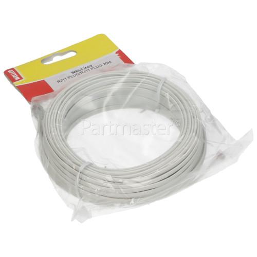 Avix ADSL 20M Modem Cable RJ11 Plug To RJ11 Plug