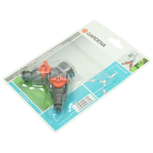 "Gardena Twin Tap Connector - 26.5 Mm (G 3/4"")"