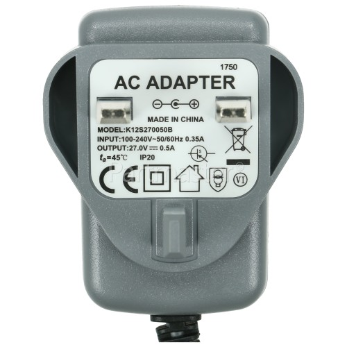 UK Compatible Gtech AirRam Sweeper Battery Charger : Input 100V TO 240V Output 27v