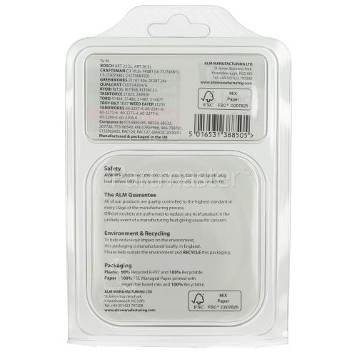 Spool & Line : T/f Bosch: ART23 SL, ART26 SL, Ryobi: RLT36, RLT36B And RLT36C33, Qualcast: CLGT2425A.