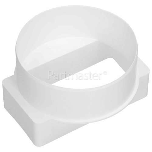 ITD Short Round To Rectangular Ducting Adaptor (replaces House Brick) : 100x54mm