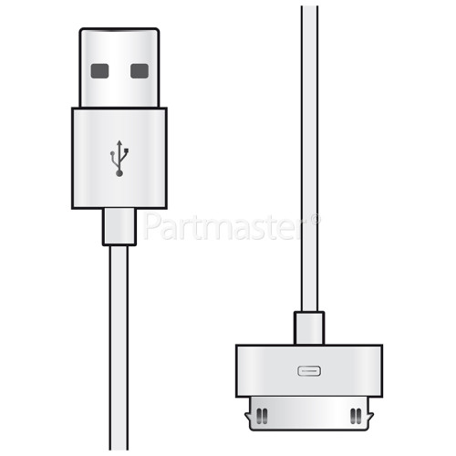 Apple 30 Pin To Type-A USB Plug Cable - 1m