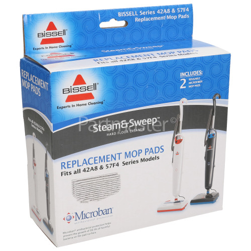 Bissell Steam & Sweep Replacement Mop Pads (With Microban)