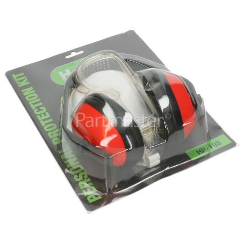 Handy Personal Safety Protection Kit : Ear Defenders, Goggles / Face Mask
