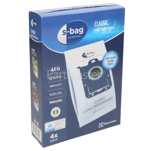 Electrolux E201B S-Bag Classic Paper Bag (Pack Of 4)