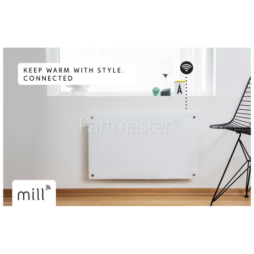 Mill Heat 600W WiFi Connected Glass Panel Heater