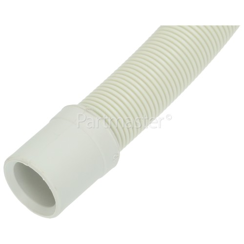 Frab 1.8Mtr. Drain Hose Straight 24MM With Right Angle End : 30MM Inside Diameters