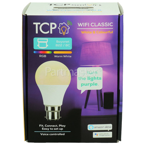 TCP Smart WiFi 9W BC/B22 Classic LED Lamp (White & Colourful)