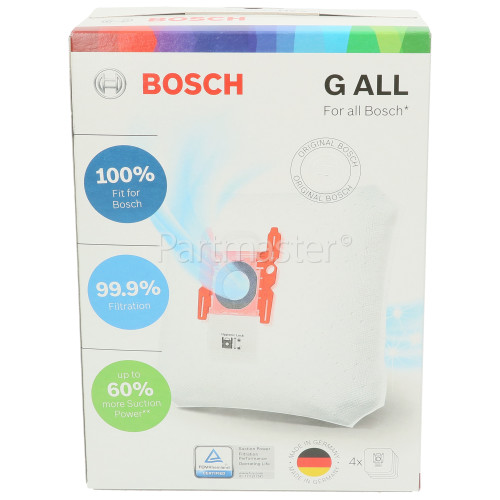 Bosch Synthetic Vacuum Dust Bag (Type G) - Pack Of 4