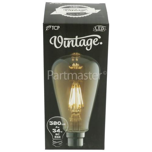 TCP BC/B22 LED Filament ST64 Vintage Lamp (Very Warm White)