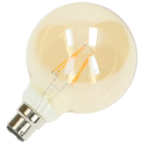 TCP 6W BC/B22 LED Filament Globe Vintage Lamp (Very Warm White)