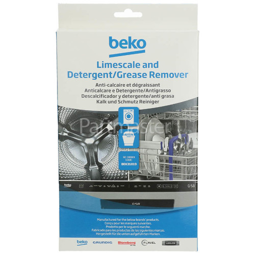 Beko Washing Machine / Dishwasher Limescale & Detergent Remover (Pack Of 6)