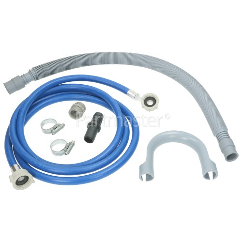 CDA Universal Washing Machine 2. 5M Cold Fill Hose / Extendable Drain Hose Extension 21mm / 21mmKit