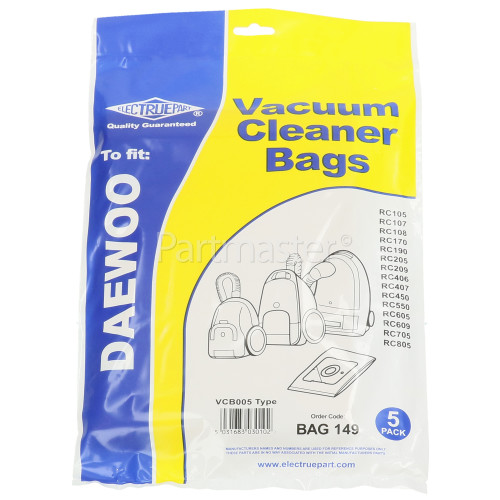 Atlanta VCB005 Dust Bag (Pack Of 5) - BAG149