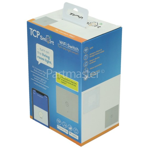 TCP Smart WiFi Single Light Wall Switch