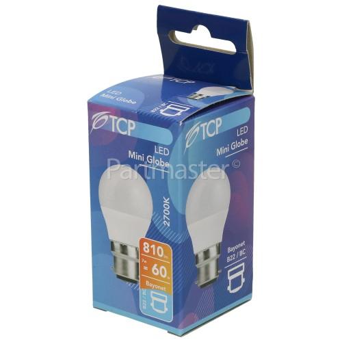 TCP 7W BC/B22 LED Non-Dimmable Mini GlobeLamp (Warm White) 60W Equivalent